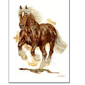 Artus Small Draft Horse Print by Jan Kunster