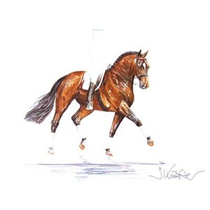 Classic Print (Dressage) by Jan Kunster