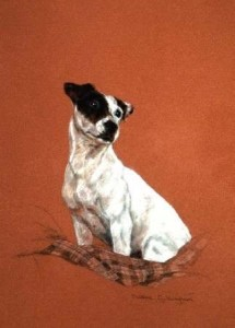 Thoughtful Print (Jack Russell) by Debbie Gillingham