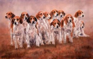 The Dirty Dozen Print (Fox Hounds) by Debbie Gillingham