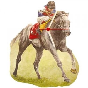 Race Horse and Jockey Clock