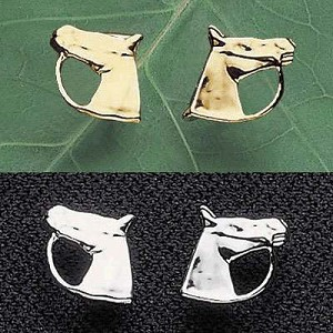 Exselle Gold Plated Horse Head Earrings