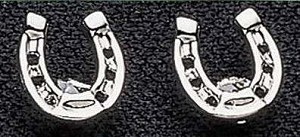 Exselle Platinum Plated Horseshoe Earrings