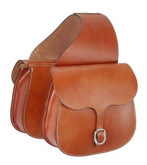 Tough 1 Leather Saddle Bag