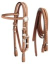 Royal King Miniature Roughout Headstall with Reins