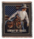 Cowboy by Choice Branded for Life Throw