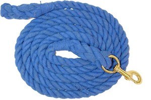 Lami-Cell 10' Cotton Lead Rope with Solid Brass Bolt Snap