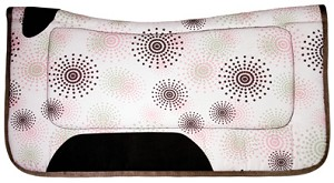 Fireworks Print Lami-Cell Western Saddle Pad