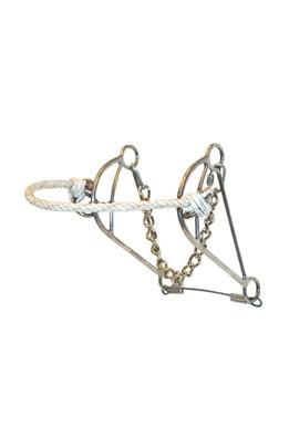 Metalab Stainless Steel Hackamore Bit with  Adjustable Rope Noseband