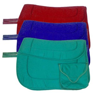 English Saddle Cushioned Trail Pad with Pockets