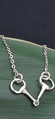 Exselle Platinum Plated Snaffle Bit Necklace
