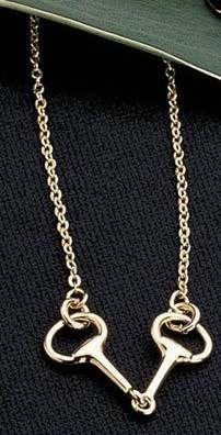 Exselle Gold Plated Snaffle Bit Necklace
