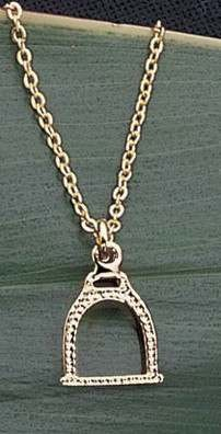 Exselle Gold Plated English Stirrup Pendant