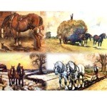 Power on the Land Card 6 Pack (Draft Horses)