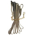 Deluxe Cotton Lunge Line with 24'' Brass Chain & Snap
