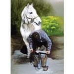 Shoeing a Horse Card 6 Pack (Blacksmith & Horse)