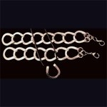 Exselle Horseshoe Bracelet with Silver/Pewter Plated Mix
