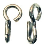Stubby Stainless Steel Curb Chain Hooks (Pairs)