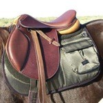Iridescent Comfort Plus English Trail Pad with Pockets