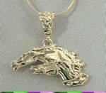 Exselle Platinum Plated Drinkers of The Wind Horsehead Pendant