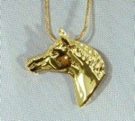 Exselle Gold Plated Show Ready Horsehead Pendant