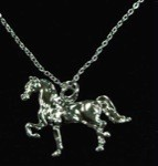Exselle Platinum Plated Show Horse Pendant