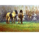 Peace & Quiet Card 6 Pack (Draft Horses in Pasture)