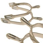 1 1/4'' Stainless Steel Rowel Spurs