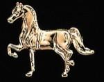 Exselle Gold Plated Show Horse Stock Pin