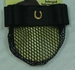 1 1/2'' Black Ribbon Bow & Net with Gold Plated Horseshoe