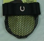 1 1/2'' Black Ribbon Bow & Net with Nickel Plated Horseshoe