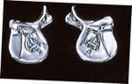 Exselle Platinum Plated English Saddle Earrings