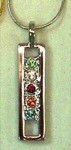 Exselle Platinum Plated Pendant with Colored Stones