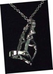 Platinum Plated Halter Pendant with Matching Chain