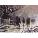 The Thaw Begins Card 6 Pack (Horses in the rain)