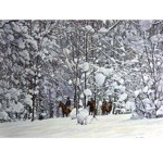 Racehorses in the Snow Card 6 Pack (Racing Horses)