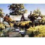 Old Water Mill Card 6 Pack (Swans)