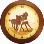 Arab Mare and Foal Clock