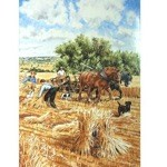 Harvesting Card 6 Pack (Draft Horses)