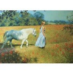 Walking Through the Poppy Field Card 6 Pack ( Women with Pony)