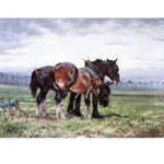 Waiting to Work Card 6 Pack (Draft Horse)