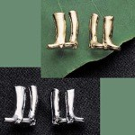 Exselle Platinum Plated English Boot Earrings