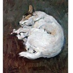 Caught Napping Print (Jack Russell)
