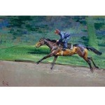 Excersing Print (Horse Racing) by Malcom Coward