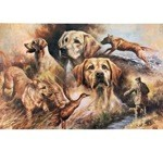 Yellow Lab Study Print (Labrador Retriever)
