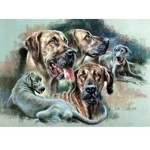 The Great Danes Print