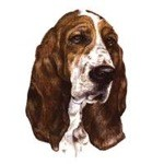 Bassett Hound Head Clock