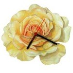 Amber Queen Rose Clock