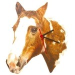 Paint Horse Head Clock