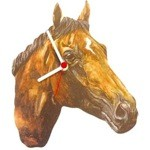 Bay Thoroughbred Head Clock